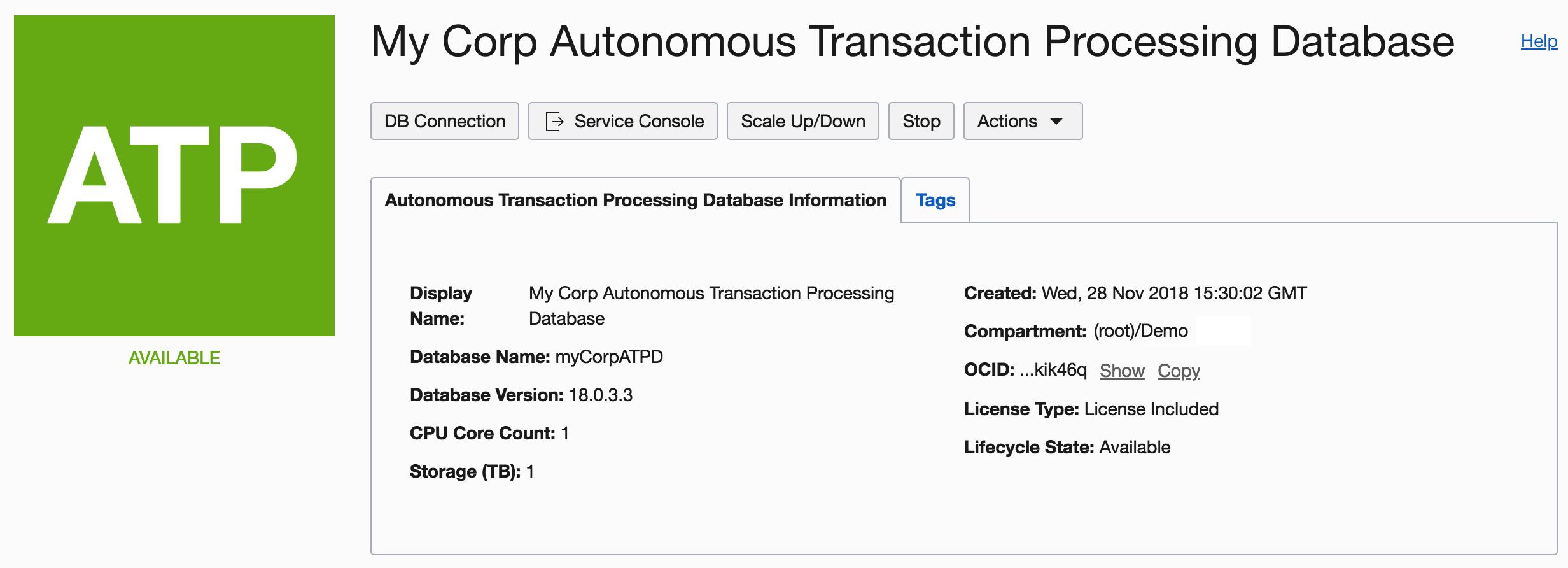 Create your first Autonomous Database